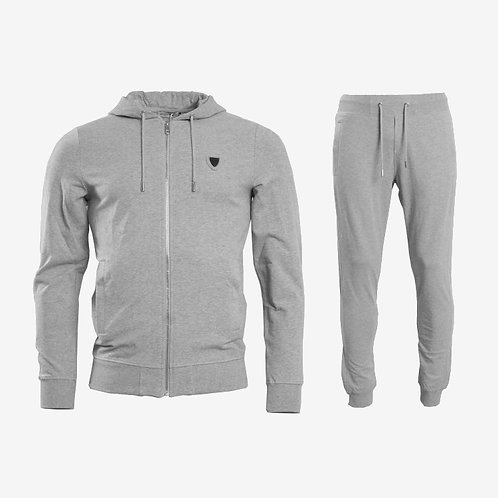 Antony Morato Silver Zip Tracksuit Light Melange Grey Set