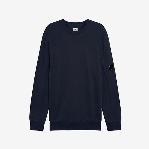 C.P. Company Diagonal Raised Fleece Lens Sweatshirt - Navy