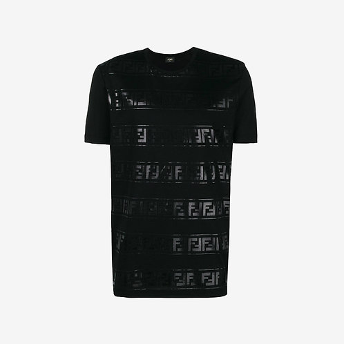 Fendi Metallic FF Logo T-shirt - Black