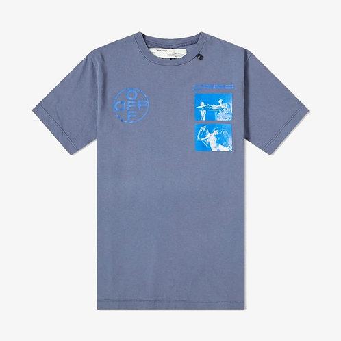 Off-White Hardcore Caravaggio Print T-shirt  - Indigo Blue