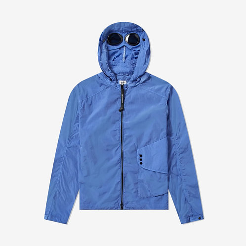 C.P. Company Chrome Goggle Hooded Shirt Jacket - Dutch Blue