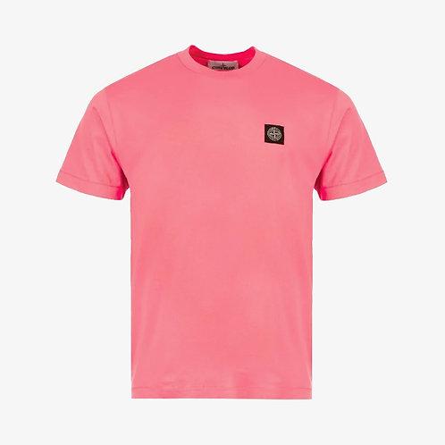 Stone Island Patch Logo T-Shirt - Pink