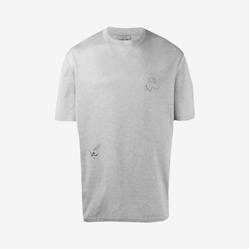 Lanvin Dog Illustration Print T-Shirt - Grey