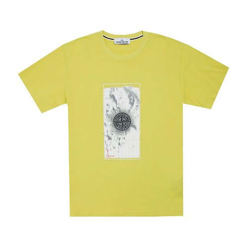 Stone Island Compass Graphic T-Shirt - Yellow