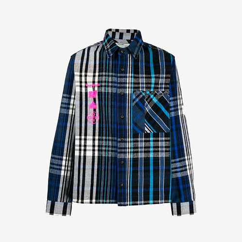 Off-White Mariana De Silva Check Shirt Blue