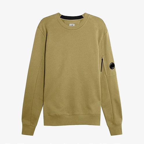 C.P. Company Diagonal Raised Fleece Lens Sweatshirt - Martini Olive