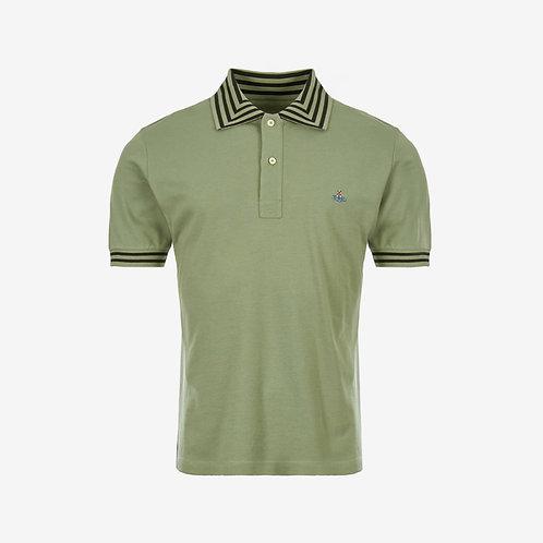 Vivienne Westwood Orb Logo Short Sleeve Polo - Green