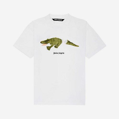 Palm Angels Crocodile Print T-Shirt - White