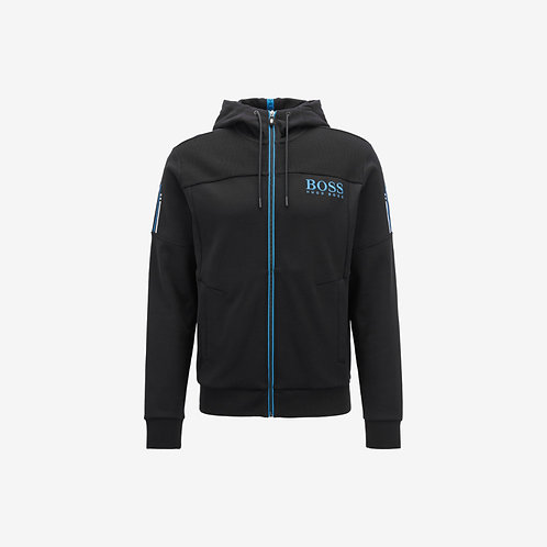Boss Green Zip Hoodie - Saggy - Black and Blue