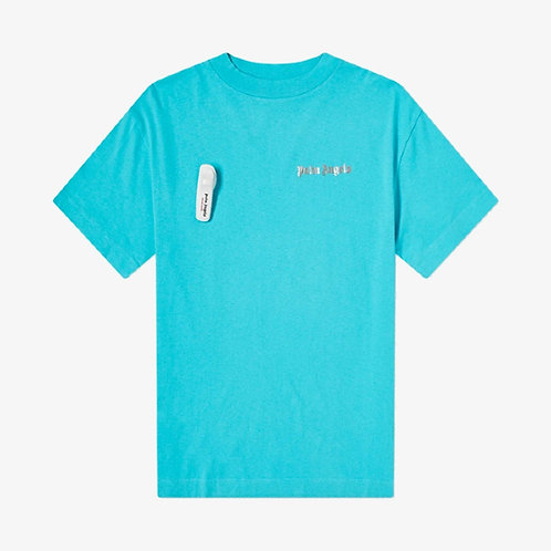 Palm Angels Security Tag T-Shirt - Light Blue