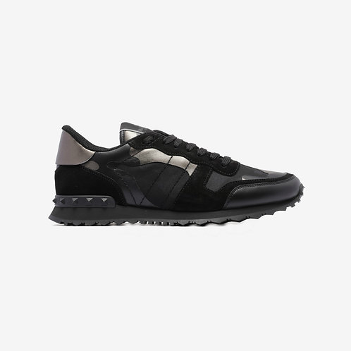 Valentino Camouflage Rockrunner Sneakers Black Side