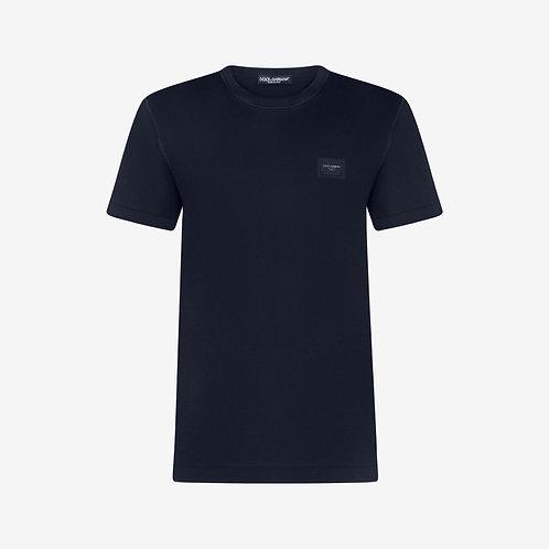 Dolce & Gabbana D&G Logo Plaque T-shirt - Navy