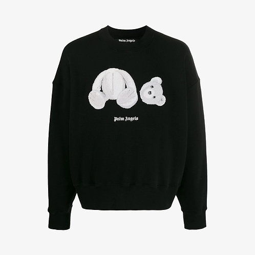 Palm Angels Ice Bear Patch Sweatshirt - Black