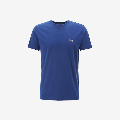 Boss Green T-shirt with White Details - Tee - Blue
