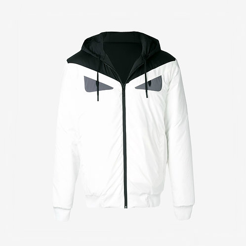 Fendi Bag Bugs Reversible Windbreaker - White and Black