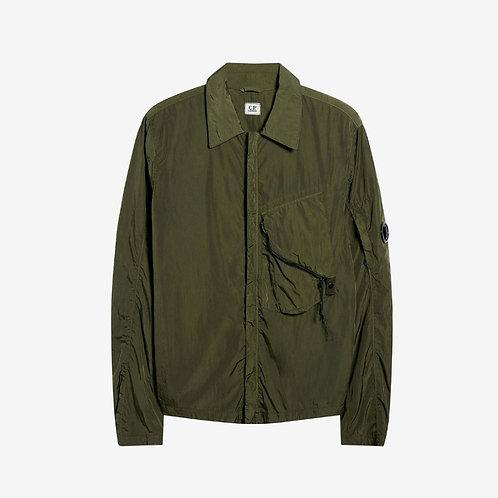 C.P. Company Chrome Shirt Jacket with Arm Lens - Tarmac Green
