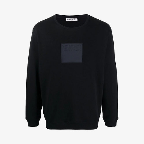 Givenchy Square Logo Patch Sweatshirt - Black