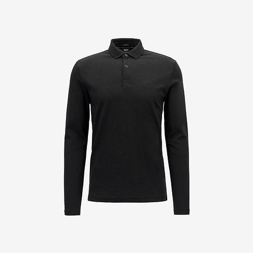 Boss Green Long Sleeve Polo - Pirol - Black