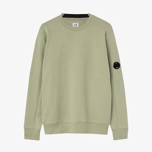 C.P. Company Diagonal Raised Fleece Lens Sweatshirt - Tea Green