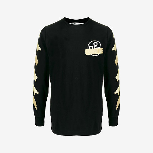 Off-White Tape Arrow Long Sleeve T-Shirt Black
