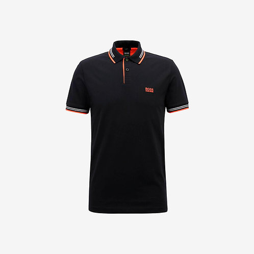 Boss Green Polo - Paul - Black & Orange