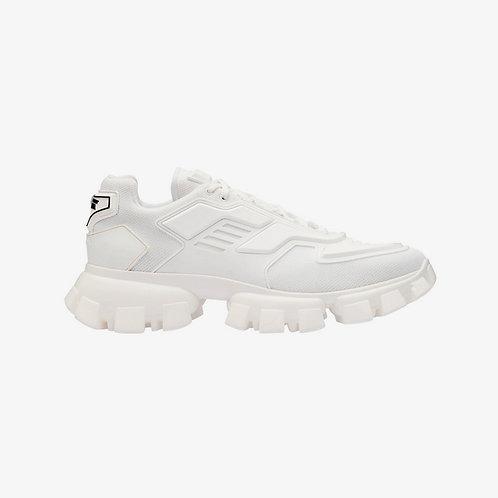 Prada Cloudbust Thunder Knit Sneakers - White