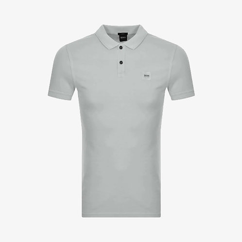 Boss 'Prime' Patch Logo Polo Shirt - Grey