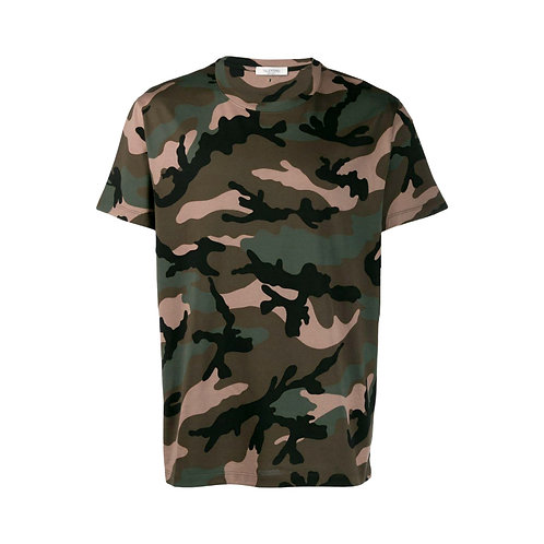 Valentino Camouflage T-shirt - Green and Brown