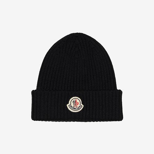 Moncler Wool Beanie Hat - Black