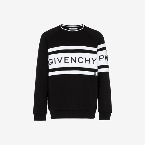 Givenchy Embroidered Band Sweatshirt - Black and White