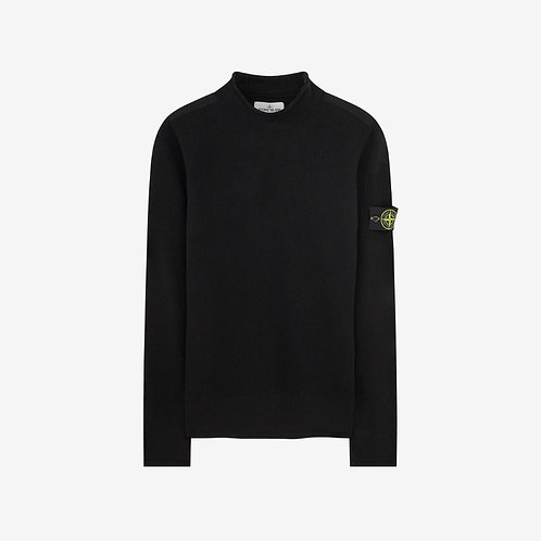 Stone Island Soft Lambswool Knit Sweater - Black