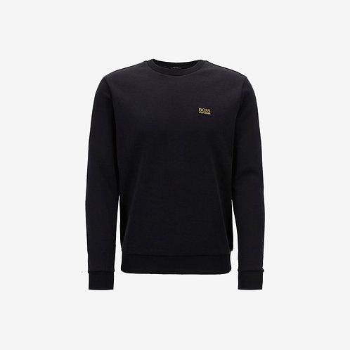 Boss Green Logo Sweatshirt - Salbo - Black and Gold
