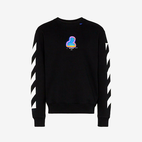 Off-White Thermo Striped Sweatshirt Black