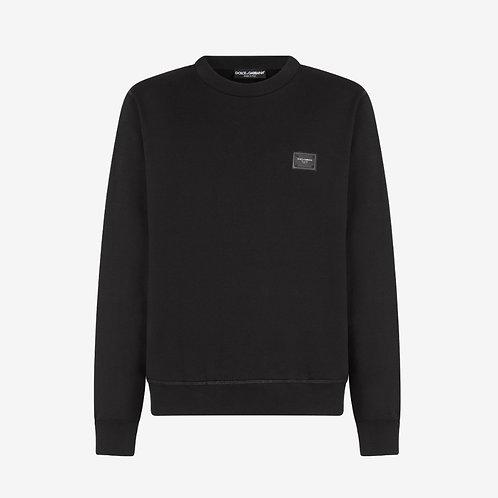 Dolce & Gabbana D&G Branded Plate Sweatshirt - Black