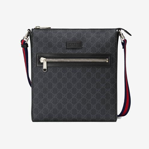 Gucci GG Messenger Bag Black and Grey
