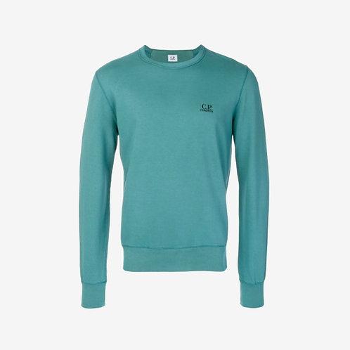 C.P. Company - Logo Detail Sweatshirt - Teal Green