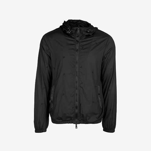 Emporio Armani Embroidered Logo Jacket- Black