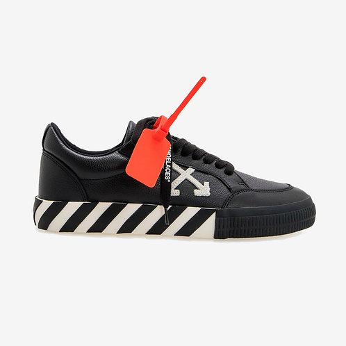 Off-White Vulcanised Leather Sneakers Black and White Arrows