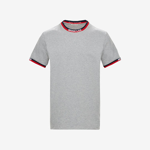 Moncler T-shirt with Collar Detail - Grey