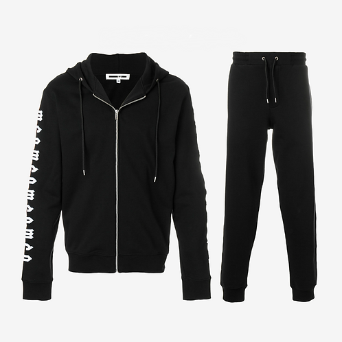 MCQ Repeat Logo Tracksuit - Black