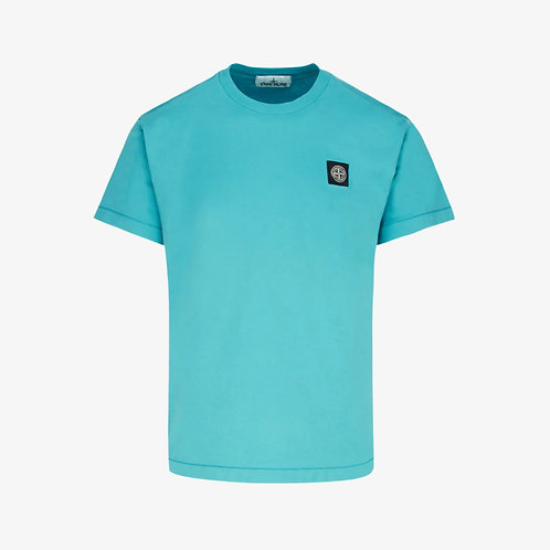 Stone Island Patch Logo T-Shirt - Turquoise Blue