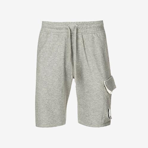 C.P. Company Light Fleece Sweat Shorts with Lens - Grey