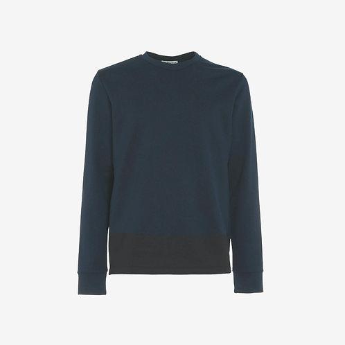 Balenciaga Printed Paint Strip Sweatshirt Dark Blue Front