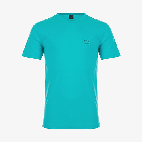 Boss Tee Curved Logo T-Shirt - Aqua Blue