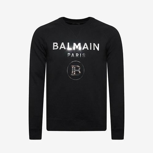Balmain Paris Reflective Logo Sweatshirt Black