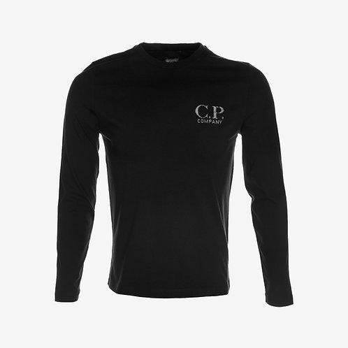 C.P. Company Reflective Logo Long Sleeve T-shirt Black Front