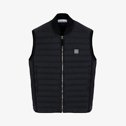 Stone Island Logo Embroidered Bomber Neck Gilet - Black