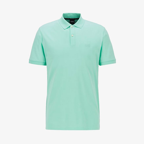 Boss 'Pallas' Pima Cotton Short-Sleeve Polo - Light Green