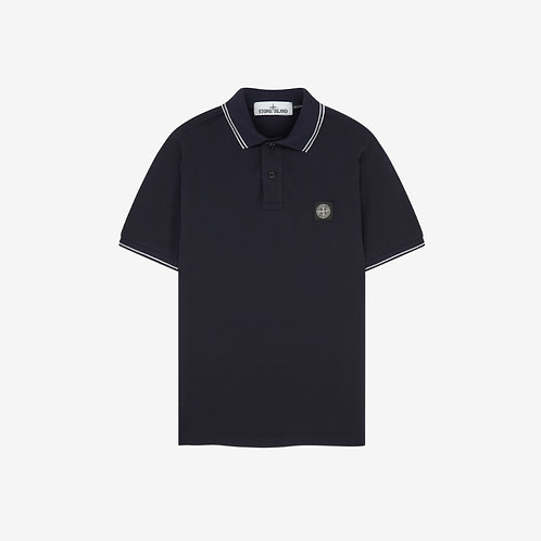 Stone Island Patch Logo Polo Shirt - Navy