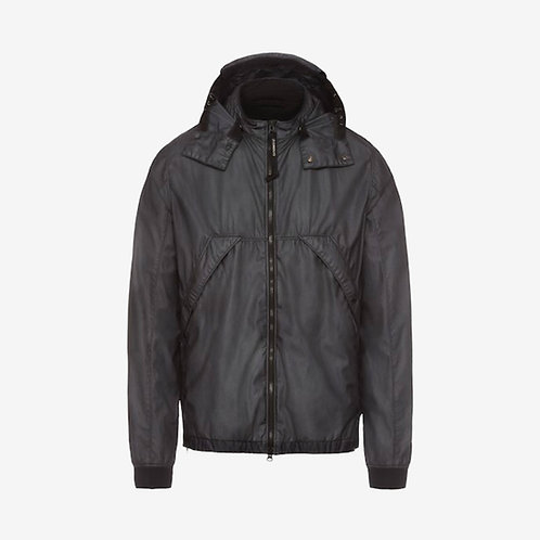 C.P. Company Bi-Mesh Goggle Zip Jacket - Metallic Black